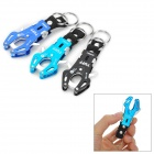 TUFF Convenient Outdoor Durable Aluminum Alloy Carabiner - Black + Blue (3 PCS)