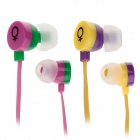 G300001 ELMCOEI V28 Fashionable In-Ear Earphones w/ Microphone - (2 PCS / 3.5mm Plug / 120cm-cable)