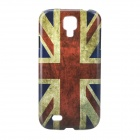 Retro Style UK Flag Pattern Back Case for Samsung Galaxy S4 i9500 - Red + Blue + Multi-Colored