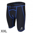 ARSUXEO AR5503 Sports Running Spandex + Nylon Tight Shorts for Men - Black + Blue (XXL)