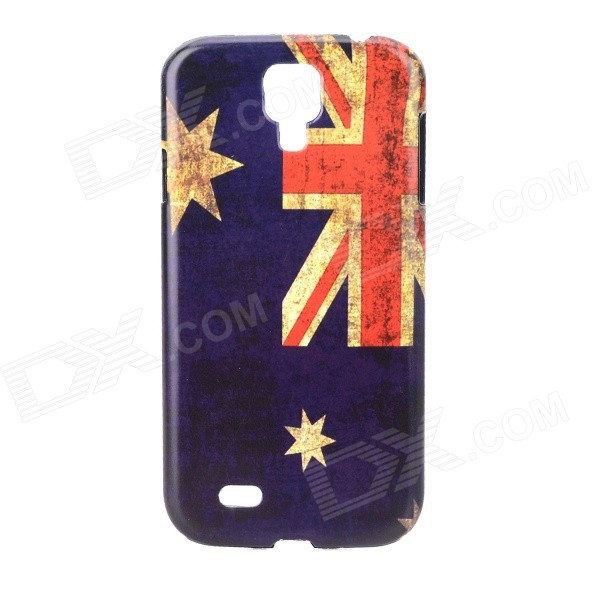 Retro Style Australia Flag Pattern PC Back Case for Samsung i9500 - Blue + Red + Multicolored