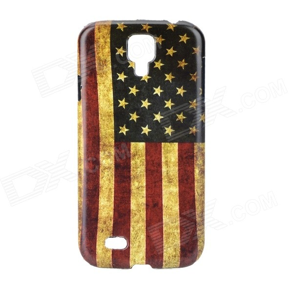 Retro Style US Flag Pattern Back Case for Samsung Galaxy S4 i9500 - Red + Blue + Multi-Colored rotosound rs66lc bass strings stainless steel