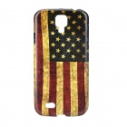 Retro Style US Flag Pattern Back Case for Samsung Galaxy S4 i9500 - Red + Blue + Multi-Colored