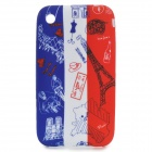 Cute Cartoon French Pattern Protective PVC Back Case for IPHONE 3G / 3GS - White + Red