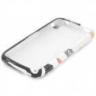 Cute Stylish Cartoon Patterned Protective PVC Back Case for IPHONE 3G / 3GS - White + Black
