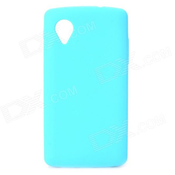 Protective Silicone Back Case for LG Nexus 5 - Light Blue protective silicone back case for lg nexus 5 translucent white