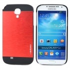 Motomo H-012 Protective Aluminum Back Case for Samsung S4 i9500 - Red + Black