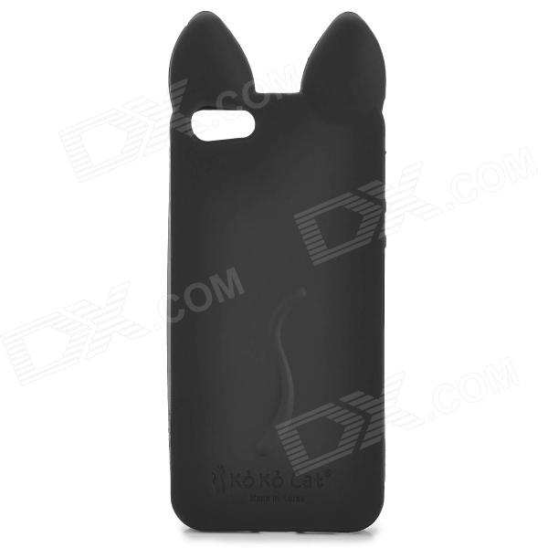 KOKO Stylish Cute Cat Ear Style Protective Silicone Back Case for IPHONE 5 / 5S - Black stylish protective silicone back case for iphone 5 black