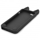 KOKO Stylish Cute Cat Ear Style Protective Silicone Back Case for IPHONE 5 / 5S - Black