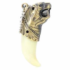A222 Stylish Tiger Teeth Refillable Windproof Jet Lighter