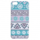 Stylish Tribal Pattern  Thin Plastic Back Case for IPHONE 5 / 5S - White + Blue