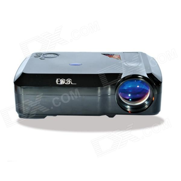 EJIALE HD 1080P 2200lm LCD Home Theater Projector w/ 3 x HDMI + 2 x USB + VGA + AV In / Out - Black