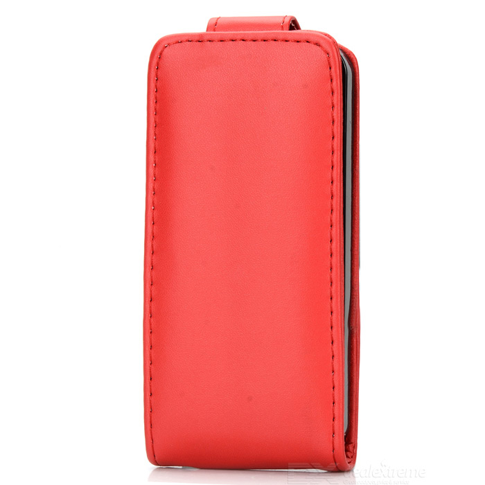 Stylish Flip-open PU + PC Case for IPHONE 5 / 5S - Red