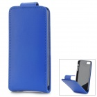 Stylish Flip-open PU + PC Case for IPHONE 5 / 5S - Blue