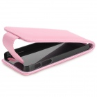 Protección Up-Down Flip-Open PU + PC para IPHONE 5 / 5S - Rosa