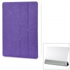 YSY Transformable Protective PU Leather + Plastic Case w/ Auto Sleep for IPAD AIR - Purple