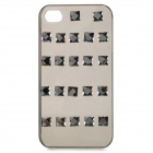 Protective Plastic + Crystal Back Case for IPHONE 4 / 4S - Black + Translucent Black
