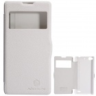 NILLKIN Protective PU Leather + PC Case Cover for Nubia Z5S Mini - White