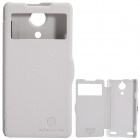 NILLKIN Protective PU Leather + PC Case Cover for Nubia Z5S - White