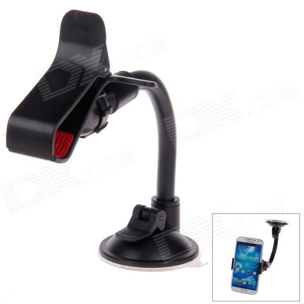 S021 Universal Suction Cup Car Plastic Holder for GPS / Mobile Phone / MP4 / PDA / PSP - Black + Red