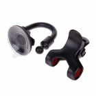 S022 Universal Suction Cup Car Plastic Holder for GPS / Mobile Phone / MP4 / PDA / PSP - Black + Red