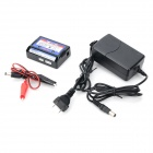 LK-1008D Lithium Balance Charge + 12V 1A Charger Power Adapter - Black + Blue + Multi-Colored (2PCS)