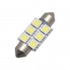 MERDIA Festoon 36mm 3W 72lm 6 x SMD 5050 blanche lumineuse lampe LEDs voiture Instrument - (12V / 2 PCS)