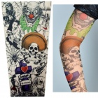 Juqi Cool Punk Simulation Tattoo Sleeve - Multicolored (2 PCS)