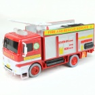 Electric Fire Engine Firefighter Bubble Car Toy - White + Red (3 x AA)