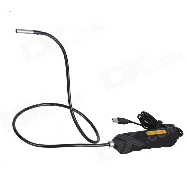 ZnDiy-BRY 100HD USB Powered 2.0 MP CMOS Vehicle Maintenance 6-LED Snake Endoscope - Black