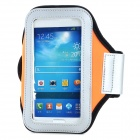 PVC + Nylon Protective Armband for Samsung Galaxy S3 i9300 / S4 i9500 - Orange + Black