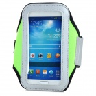 PVC + Nylon Protective Armband for Samsung Galaxy S3 i9300 / S4 i9500 - Green + Black
