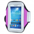 PVC + Nylon Protective Armband for Samsung Galaxy S3 i9300 / S4 i9500 - Purple + Black