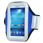 PVC + Nylon Protective Armband for Samsung Galaxy S3 i9300 / S4 i9500 - Blue + Black