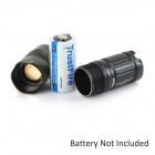 TANK007 E18 Portable 180lm LED 1-Mode White Light Flashlight - Black (1 x CR123 / 16340 )
