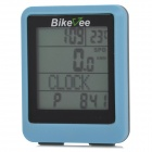 Bikeee wh-20 Wireless Water Resistant Bike Computer Bicycle Speed Meter - Blue + Black