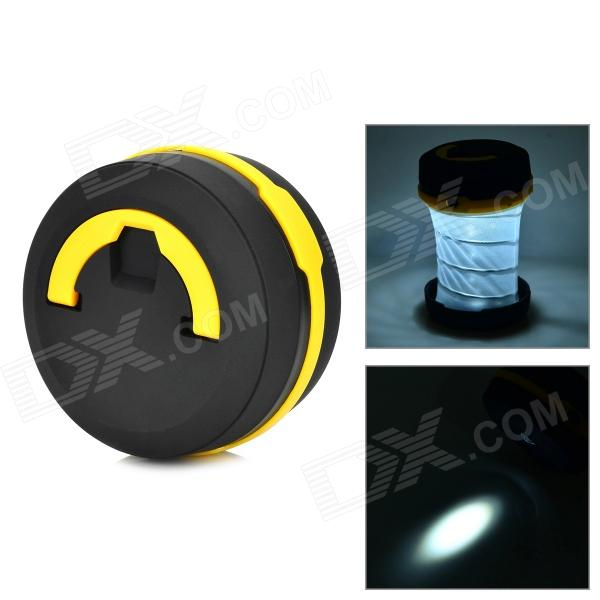 Camping extérieure Pop-Up LED Flashlight Lantern - Noir + Jaune (3 x AAA)