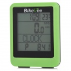 Bikeee wh-20 Wireless Waterproof Bicycle Computer - Green + Black (1 x CR2032)
