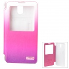 iSecret  Protective PU Flip-open Case w/ Display Window & Stand for Samsung Note3 / N9000 - Pink