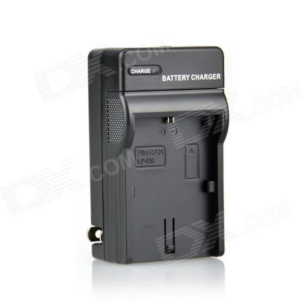 DSTE LP-E6 Battery Charger for Canon 5D mark ii iii EOS 60D 7D 6D 70D 60Da - Black (US Plug) canon eos 7d mark ii body