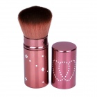 Retractable Cosmetic Makeup Powder Multifunction Brush - Reddish Orange