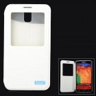 iSecret  Protective PU Flip-open Case w/ Display Window & Stand for Samsung Note3 / N9000 - White