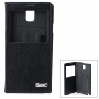 iSecret SSLCSN3XXBL Protective PU Flip-open Case w/ Display Window & Stand for Samsung Note3 / N9000