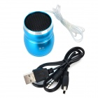 WEIKE WK-03-LVSE Portable Media Player Speaker w/ TF / FM - Blue