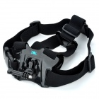 TOZ Front Chest Elastic Belt Shoulder Strap w/ Mount base Set for Gopro Hero 4/ 3+ / 3 / 2 / 1 - Black