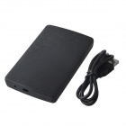 "High-Speed USB 2.0 Hard Disk Drive  Enclosure Case for 2.5"" SATA HDD - Black (Max. 2TB)"
