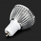 GU10 5W 650lm 3200K 5-LED Warm White Light Bulb - White + Silver Grey (85~265V)