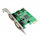 IOCREST IO-PCE9904-4S MCS9904CV Chipset 4-Port DB-9 Serial (RS-232) PCI-e Controller Card - Green