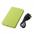 "High-Speed USB 2.0 Hard Disk Drive Enclosure Case for 2.5"" SATA HDD - Green (Max. 2TB)"