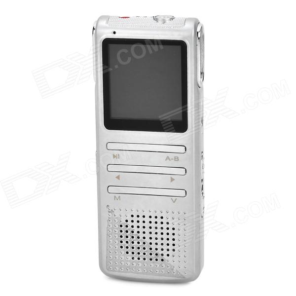 Thchi YMX-R43 1.44 Screen Digital Voice Recorder / MP3 Player - Silver White (8 GB) sony icd ux544f 8gb digital voice recorder with built in usb